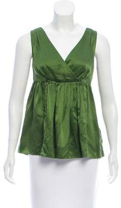 Magaschoni Sleeveless Satin Top