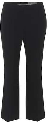 Alexander McQueen Cropped cady trousers