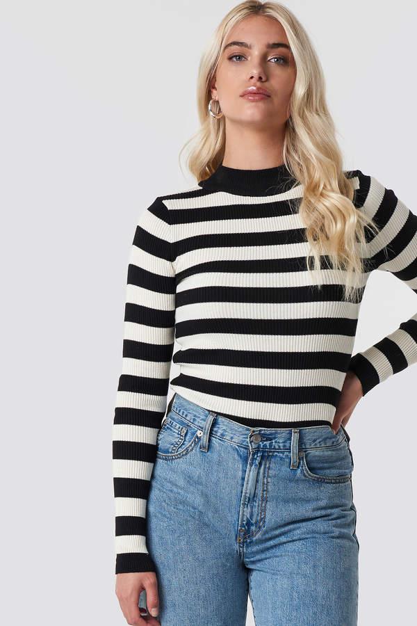 Trendyol Blocked Knit Sweater Black