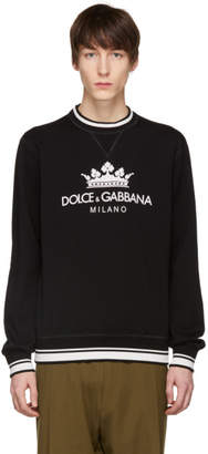 Dolce & Gabbana Black Crown Sweatshirt