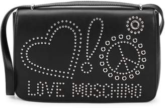 Love Moschino Studded Faux Leather Crossbody Bag