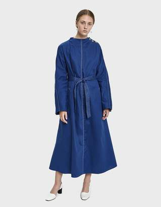 Walk Of Shame Open Back Denim Dress