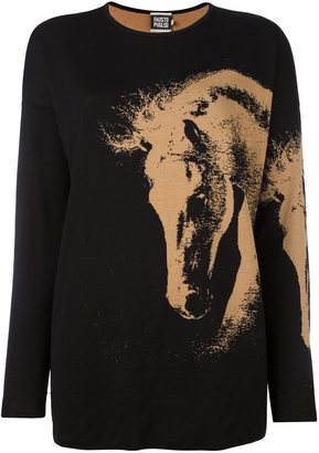 Fausto Puglisi horse pattern jumper $657.10 thestylecure.com