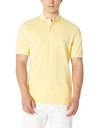Isle Bay Linens Men's Short Sleeve Cotton Pique Solid Polo Shirt in Classic Fit