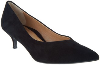 Vionic Leather Kitten Heel Pumps - Josie
