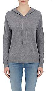 Barneys New York WOMEN'S CASHMERE HOODIE-GRAY SIZE M