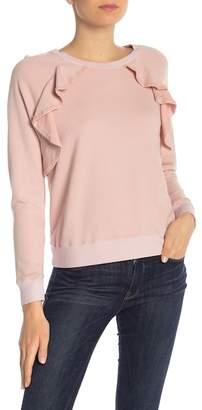 Splendid Ruffle Long Sleeve Sweatshirt