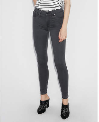 Express gray mid rise stretch+ jean leggings