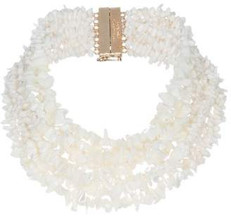 Rosantica white Fato stone necklace