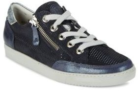 Paul Green Luca Sport Zip Accented Lace Up Sneakers $325 thestylecure.com