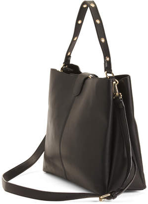 Triple Compartment Hobo With Tassel