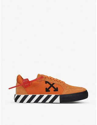 Off-White Vulc striped low-top canvas trainers