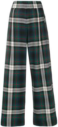 Semi-Couture Semicouture high waisted check trousers