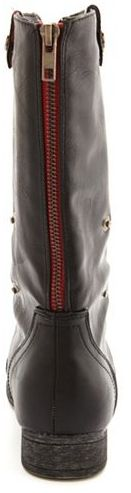 Charlotte Russe Zip-Back Fold-Over Combat Boot