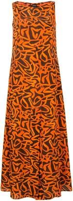 Aspesi orange silk dress