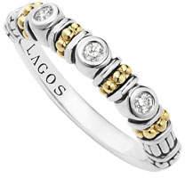 Lagos Caviar Beaded Diamond Stacking Ring, Size 7