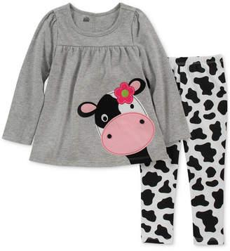 Kids Headquarters Toddler Girls 2-Pc. Cow Tunic & Leggings Set