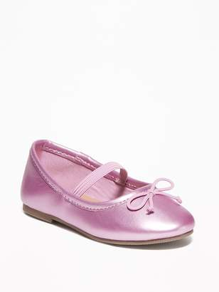ae4c4bf683b2 Old Navy Metallic Faux-Leather Ballet Flats For Toddler Girls