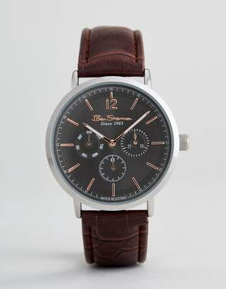 Ben Sherman BS011EBR Chronograph Watch In Brown