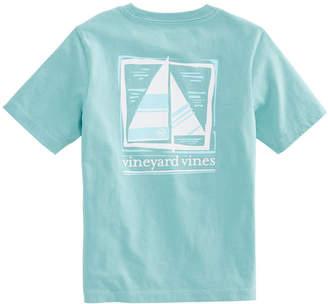 Vineyard Vines Boys Wood Block Sail Pocket T-Shirt