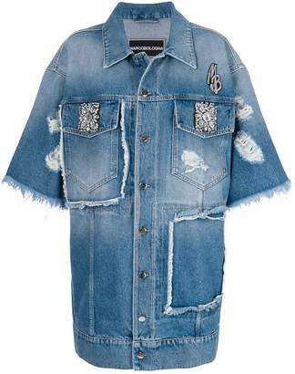 Marco Bologna embellished oversized denim jacket