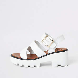 River Island White cleated sandals