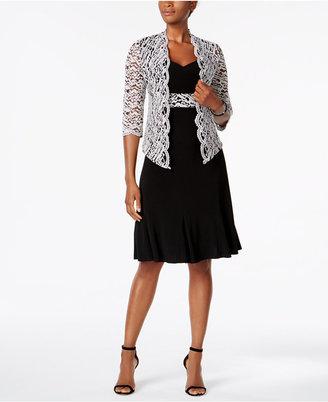 R & M Richards Sequined Lace Jacket & Dress $119 thestylecure.com