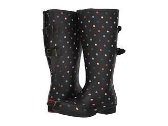 Chooka Versa Dot Rain Boot Wide Calf