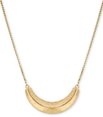 """Lucky Brand Gold-Tone Dimensional 23"""" Slider Necklace"""