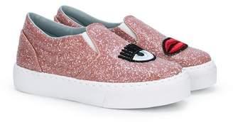 Chiara Ferragni Kids Logomania slip-on sneakers