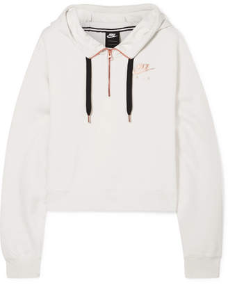 Nike Air Cotton-blend Fleece Hoodie - Ivory