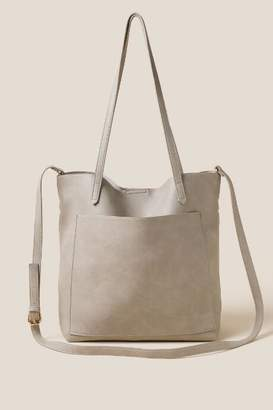 francesca's Rosie Soft Vegan Leather Tote in Gray - Gray
