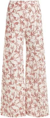 Emilia Wickstead Hullinie floral-print crepe trousers