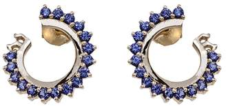 Vendome Aoyama Nouvel Heritage Blue Sapphire Hoop Earrings - Rose Gold
