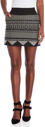 Karen Millen Textured Tribal Mini Skirt