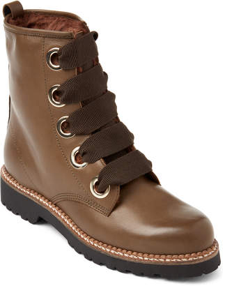 Elena Lined Leather Combat Boots
