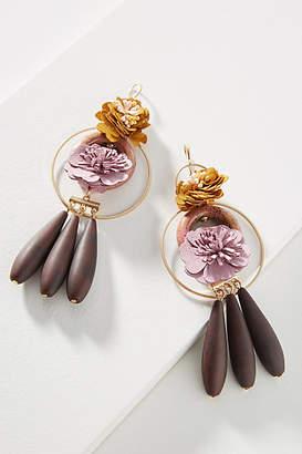 Anthropologie Tumbled Bouquet Drop Earrings