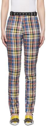 Marques Almeida Multicolor Check Tailored Trousers