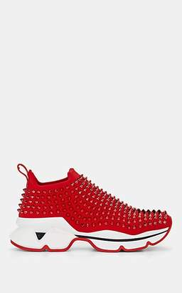 Christian Louboutin Women's Spike Sock Donna Flat Sneakers - Red