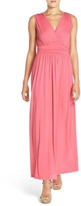 Women's Fraiche By J Surplice Jersey Maxi Dress $96 thestylecure.com