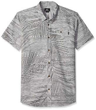 O'Neill Men's Fronzarelli Short Sleeve Woven Shirt Fog
