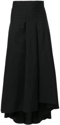 Barba asymmetric pleat skirt