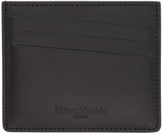 Maison Margiela (メゾン マルジェラ) - Maison Margiela ブラック コーティング カーフスキン カード ホルダー