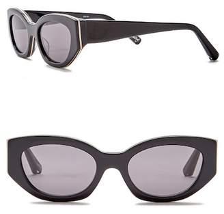 Elizabeth and James Lindley 51mm Rectangle Cat Eye Sunglasses