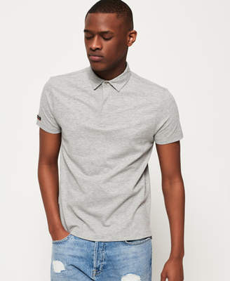 Superdry Premium Textured Jersey Polo Shirt