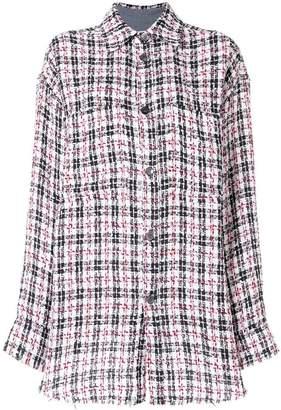 Faith Connexion tweed longline shirt