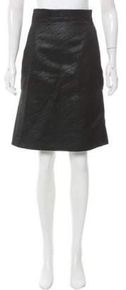 Behnaz Sarafpour Metallic A-Line Skirt