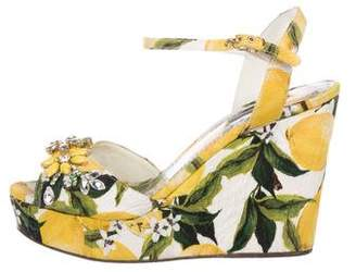 Dolce & Gabbana 2016 Limoni Platform Wedges