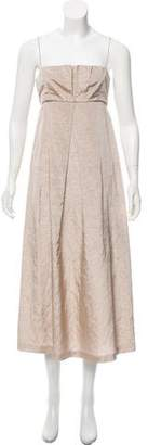 Thakoon Pleated Linen Dress