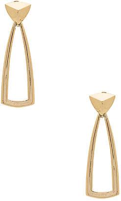 House of Harlow 1960 Mesa Door Knocker Earrings in Metallic Gold. $52 thestylecure.com